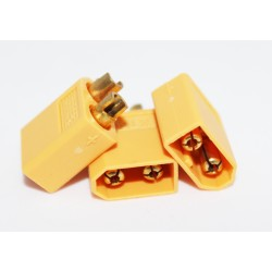 Male connector XT60 (yellow)